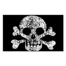 Worn Skull And Crossbones Decal