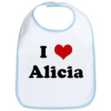 I Love Alicia Bib