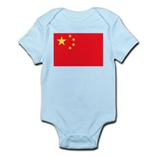 Peoples Republic of China Flag Infant Bodysuit