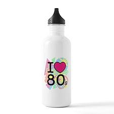 I Heart 80's Water Bottle