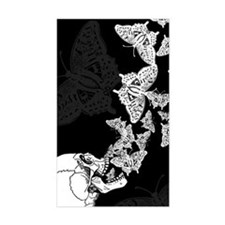 Skull With Butterflies Decal