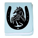 Horse Head & Horseshoe baby blanket