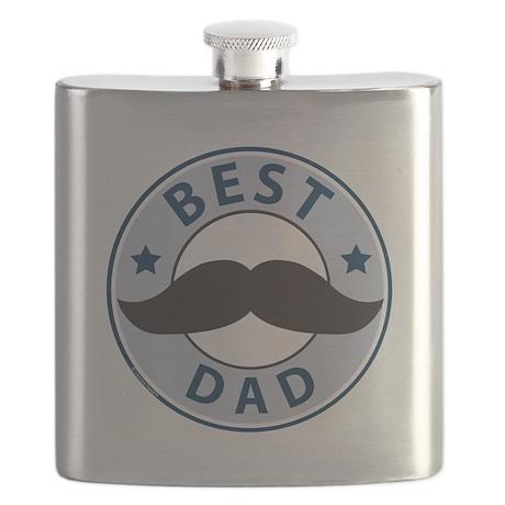 mustache best dad flask