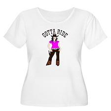 Gotta Ride Cowgirl Plus Size T-Shirt
