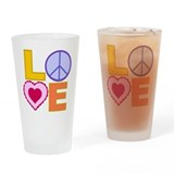 Love Art Drinking Glass