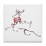 Cute Christmas housewares Tile Coaster