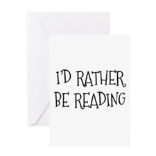 Rather Be Reading Playful Greeting Card