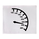 Racing car speed Throw Blanket