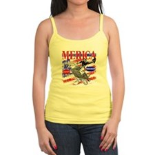 Merica Eagle and Cowboy Tank Top