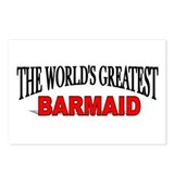 &quot;The World's Greatest Barmaid&quot; Postcards (Package