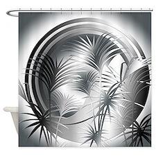 Art Deco Tropical Style Shower Curtain