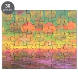 Autumn Ruminations, Abstract Gold Ocean Puzzle