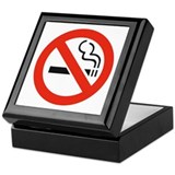 No Smoking Smokers Keepsake Box