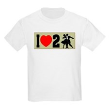 I Love 2 Ball Room Dance Kids T-Shirt