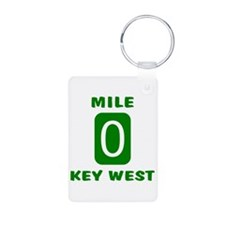 Mile 0 Key West Florida Keychains