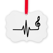 Frequency music note Ornament