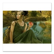 "Enchanting Fairy Square Car Magnet 3"" x 3"""