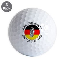 Oktoberfest Toast Golf Ball