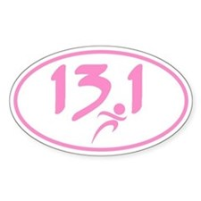 Pink 13.1 marathon Decal
