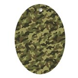 Army Camouflage Ornament (Oval)