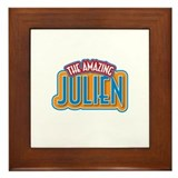 The Amazing Julien Framed Tile