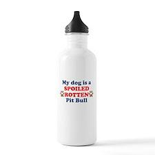 Spoiled Rotten Pit Bull Water Bottle