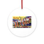 Oakland California Greetings Ornament (Round)