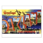 Oakland California Greetings Small Poster