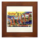 Oakland California Greetings Framed Tile