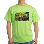 Oakland California Greetings (Front) Green T-Shirt