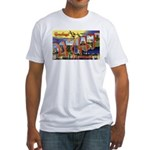 Oakland California Greetings (Front) Fitted T-Shir