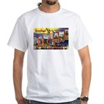 Oakland California Greetings (Front) White T-Shirt