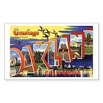 Oakland California Greetings Rectangle Sticker