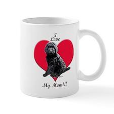 I Love My Mom!!! Black Goldendoodle Mug