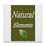Natural Elements Logo  Tile Coaster