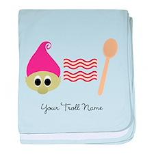 Troll Bacon Spoon baby blanket