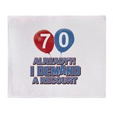 70 years birthday gifts Throw Blanket