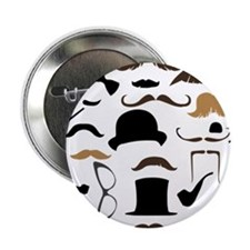 "Mustache Ladies and Gentlemen 2.25"" Button (100 pa"