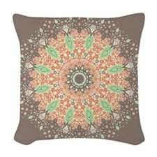 Mandala of Growth Woven Throw Pillow