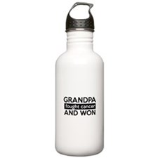 Cancer survival designs Water Bottle