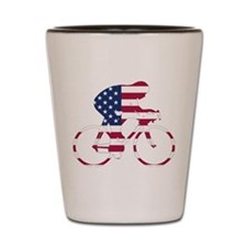 U.S.A. Cycling Shot Glass