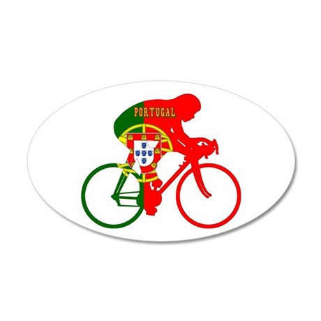 Portugal Cycling 20x12 Oval Wall Decal