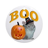 Chinchilla Boo Ornament (Round)