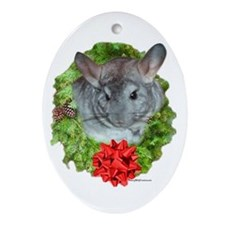 Chinchilla Wreath Oval Ornament
