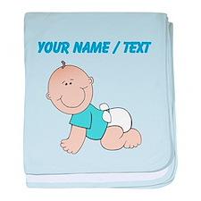 Custom Baby Boy baby blanket