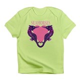 Seahorses pink hart Infant T-Shirt