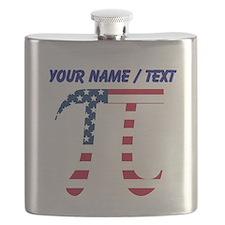 Custom American Pi Flask