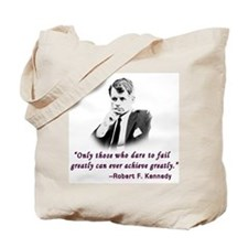 Bobby Kennedy Inspiring Quote Tote Bag