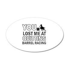 Hardcore Barrel Racing designs 35x21 Oval Wall Dec