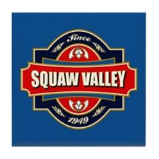 Squaw Valley Old Label Tile Coaster